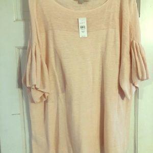 Loft Plus Blush lightweight sweater size 20/22